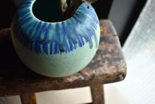 Round Blue and Green Vase S | Drips