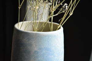 Light Blue Minimalist Vase M | Uneven Shape | Matte