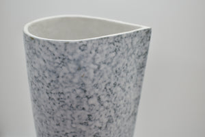 Tall Spouted Vase with Marble Pattern and textured Surface