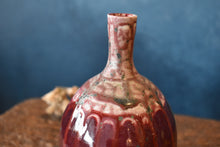 Red Vase S | Patterned Neck | Drips | Glazed
