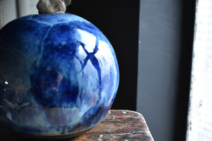 Deep Blue Round Vase | Glazed
