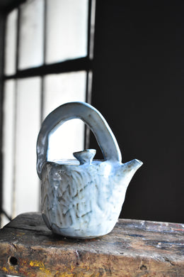 Tiny Blue Tea Pot | Contemporary Design by Pachana Studio