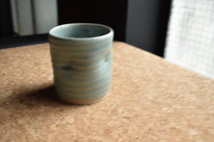 Green Mug XS | Uneven Shape | Celadon | Glazed