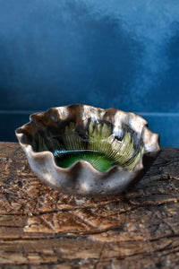 Floral Shaped Bowl  | S | Green Interior