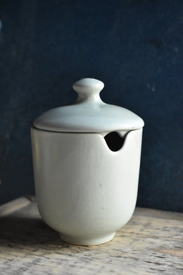 Green Sugar Bowl with Lid | Matte