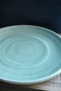 Small Green Celadon Plate | Glazed