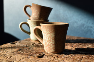 Earthy Speckled Espresso Cup + Saucer