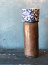 Tall Rustic, Deep Blue, Pattern, Handmade