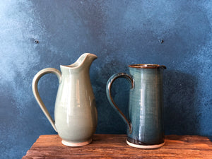 Large Jug: Green-Celadon Pitcher, Handmade