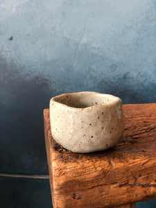 Uneven Bowl, Green-Grey, Speckled, Handmade