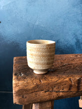 Teacup, Milky/Light Brown, Textured, Handmade