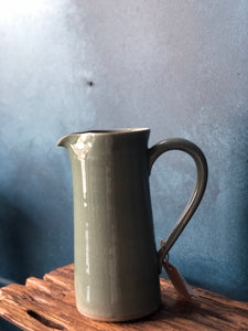 Large Tall Jug: Celadon Pitcher, Handmade