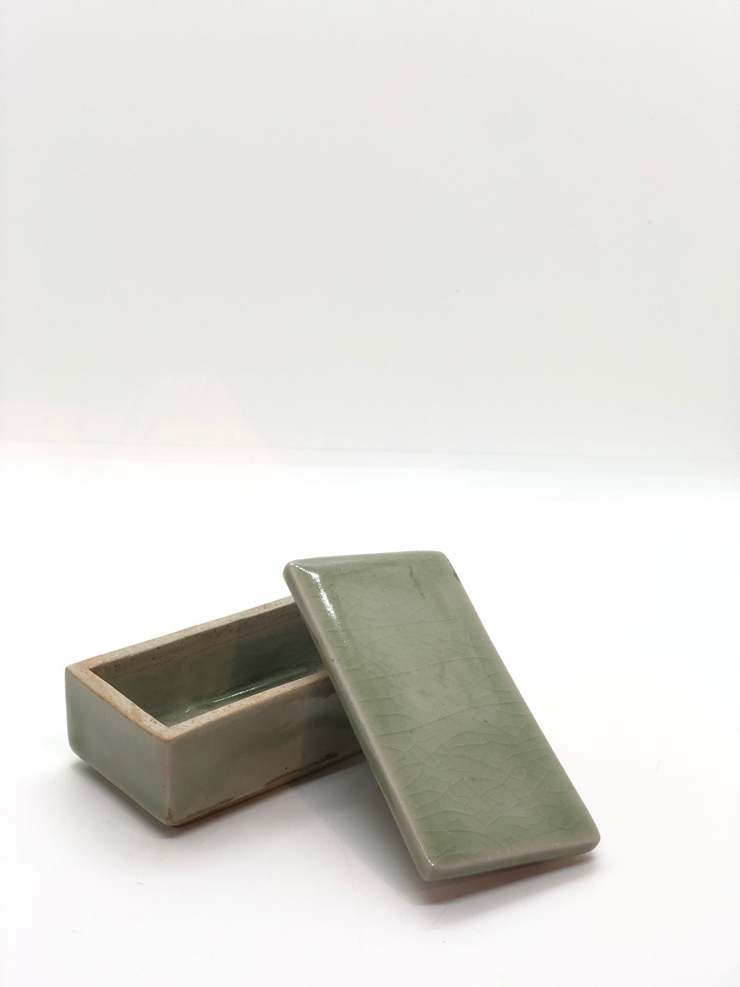 Small Green Celadon Box with Lid