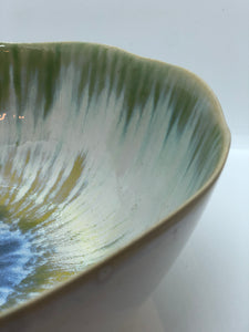 Large Green Bowl, Handmade Pottery