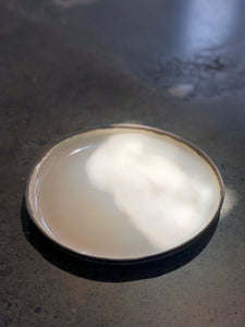 Small Plate: Milky White, Rustic Rim Plate, Handmade