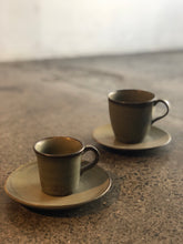 SALE - Espresso Cup with Saucer, Handmade