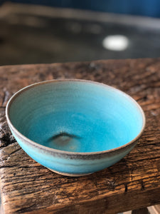 Delicate Smooth Turquoise, Medium Bowl, Handmade