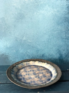 SOLD | Grayish-Blue, Rustic Pottery, Ceramic, Plate