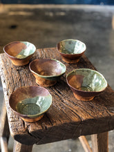 Small Bowl, Green/Brown, Uneven Edge, Rustic, Handmade