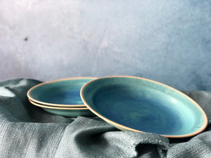 Matte Glazed, Starry Blue Plate, Handmade Ceramic