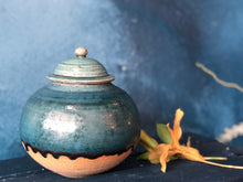SOLD | Cover Jar, Prussian Blue Rustic, Lead-Free Glazed, Handmade Pottery