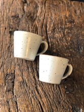 Tea Cup With Handle, White, Speckled, Rough, Handmade