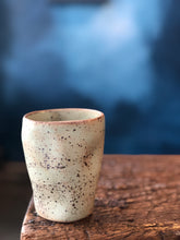 Mug: Uneven Shape, Green Soda, Speckled, Raw Rim, Handmade