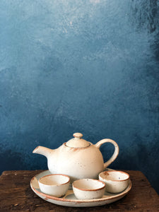 SALE - Tea Set, Matte Finish, Very Rough Texture