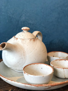 SALE - Tea Sets, Matte Finish, Very Rough Texture