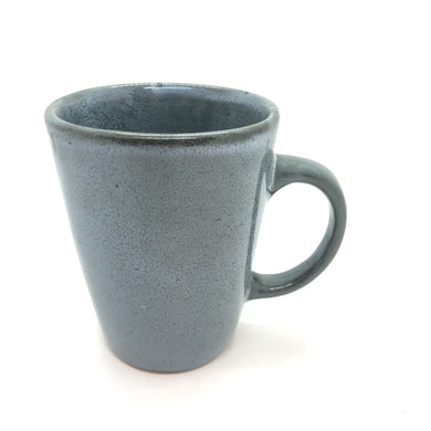 Grey/Olive Tall Mug with Handle, Glossy, Random Speckled Pattern, Handmade