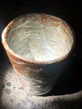 Unique rustic Mug, Speckled, Uneven, Warm Brown/Creamy White Mix of Colour, Glossy Rough Texture, Handmade