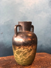 SOLD | Decoration Pitcher, Green Gold Glaze, Rustic Shades