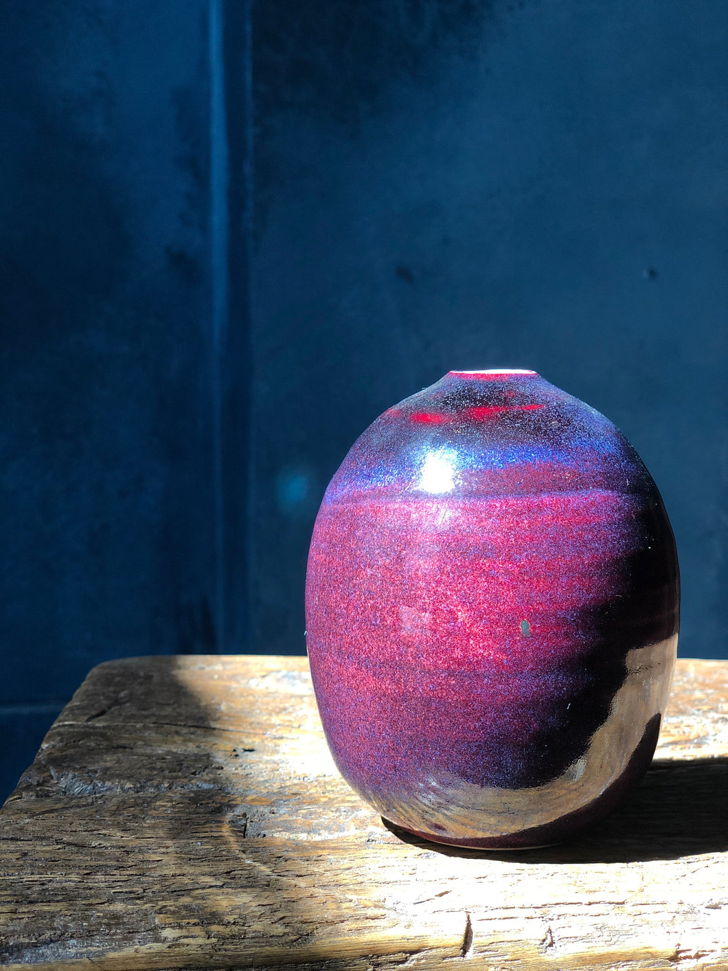 Kinyo - Rouge Flambe' - Copper Red Ox blood Vase 3