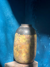 SOLD | Large: Yellow-Gold Vase, Glazed, Rustic Shades, Handmade