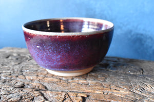 Red Purple Bowl L | Kinyo - Rouge Flambe' | White Speckles | Glazed