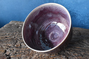 Red Purple Bowl M | Kinyo - Rouge Flambe' | White Speckles | Glazed