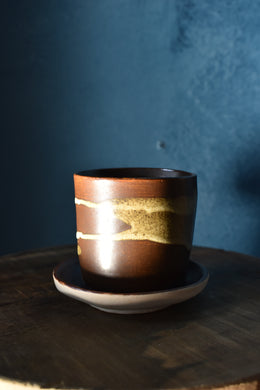 Down to Earth Cup + Saucer | Brown