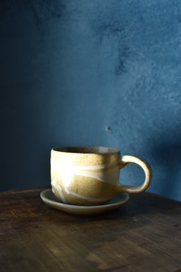 Down to Earth Cup + Saucer | Beige