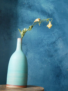 Lavender Sky Bottle Shaped Vase