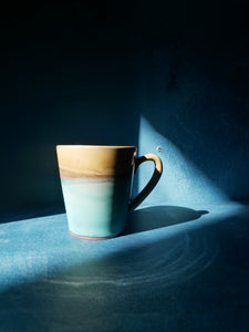 Yellow and Turquoise Mug