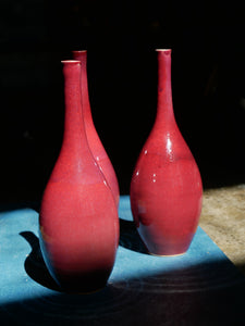 Vase Copper Red / OX blood glazed vases Hand thrown by Master Padung
