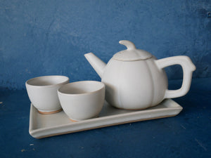 White Pumpkin - Tea Pot Set