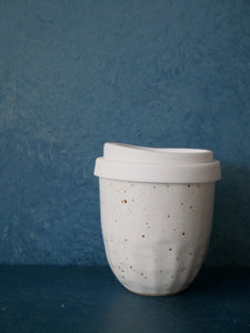 White Speckled Mug - Uneven