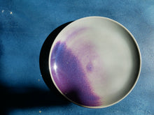 Unicorn Colour glazed Plate - Copper Purple Kinyo /Flabme' glazed