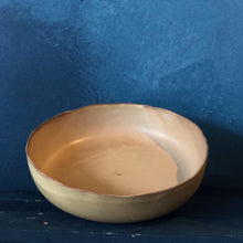 Uneven Large Bowl: Creamy Brown, Smooth Finishing, Handmade