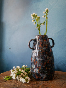 Blue and Red Speckled Vase | Chubby