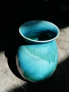 Ocean Blue Vase by Master Padung