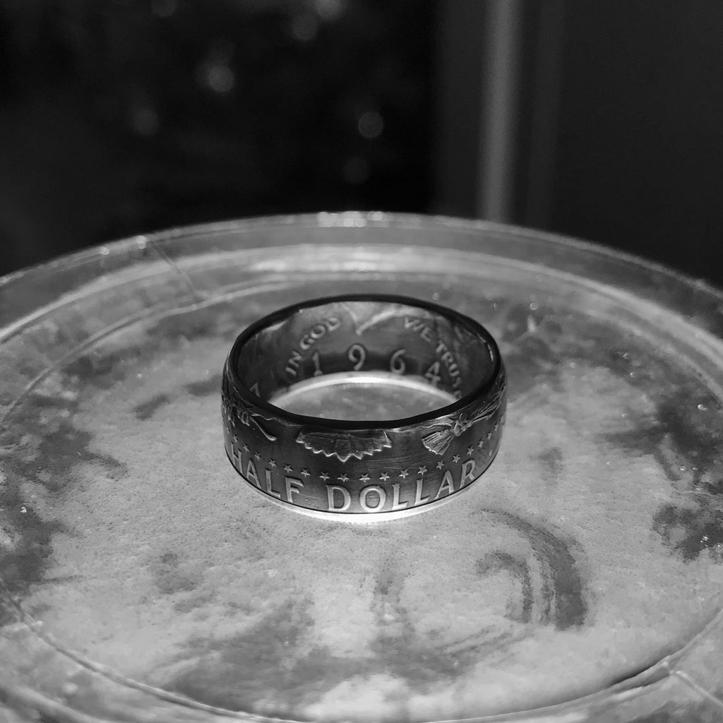 1964 Silver Kennedy coin ring