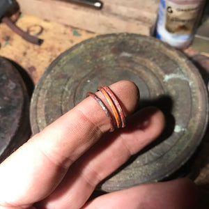 Copper ring (single or stacked, natural patina)
