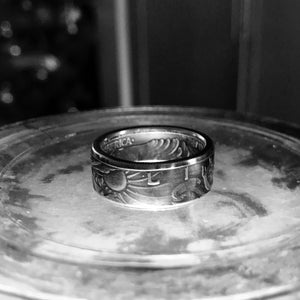 1947 Silver Walking Liberty coin ring